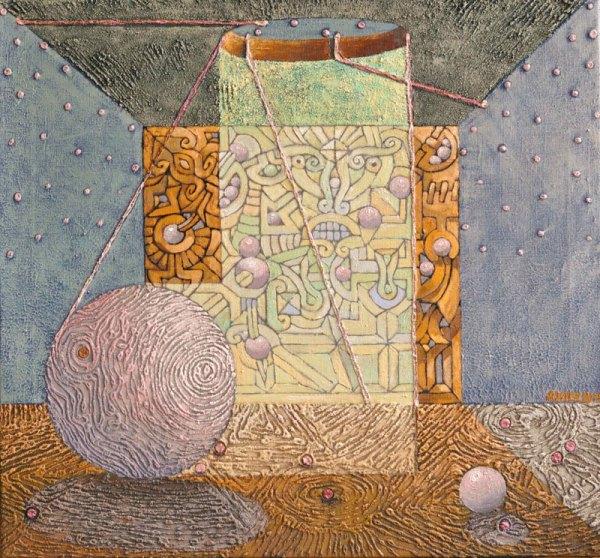 Josef Achrer Popadané planety 72 cm x 67 cm