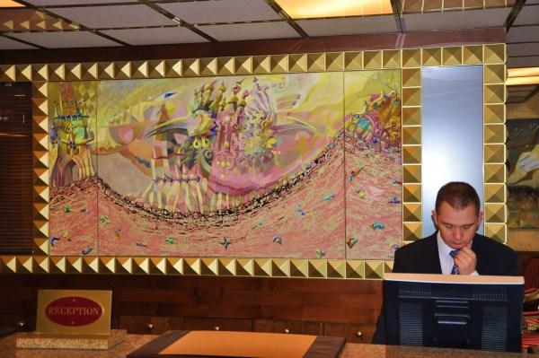 Recepce hotelu Imperial obrazy Josefa Achrera