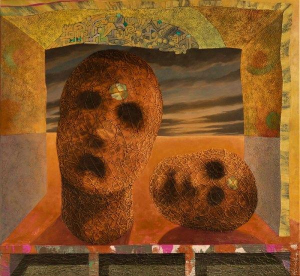 Josef Achrer Smutná scéna 132 cm x 122 cm
