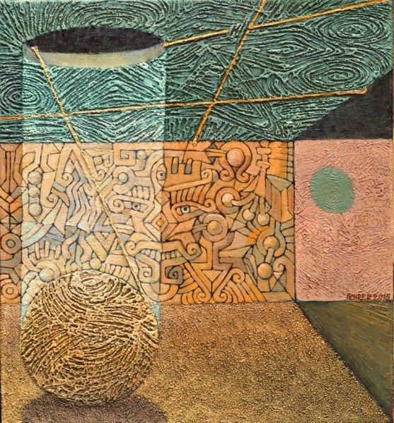 Josef Acher Spadlo nám slunce 58 cm x 62 cm