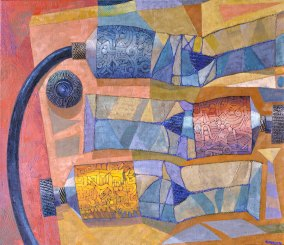 Josef Achrer Tři tuby 112cm x 107cm
