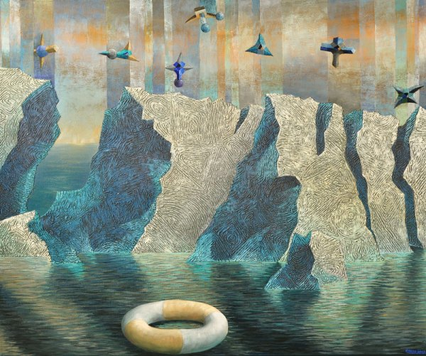 Josef Achrer Za polárním kruhem 146 x 121 cm