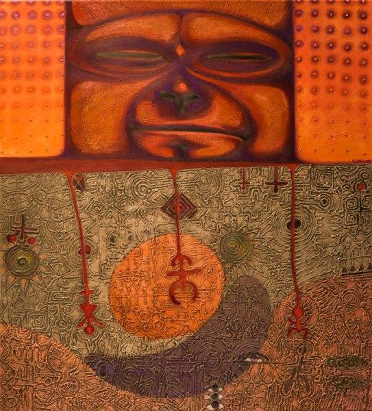 Opičí sen / Monkey Dream 102 cm x 112 cm