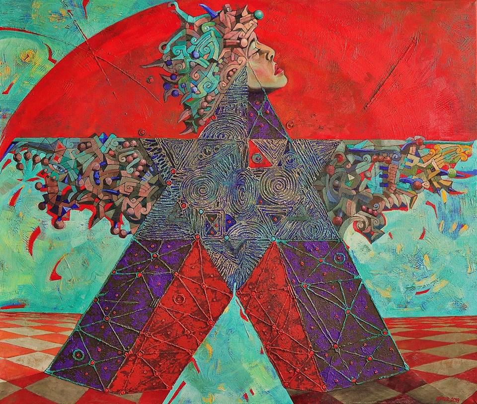 Popova Hvězda 133 x 112 cm