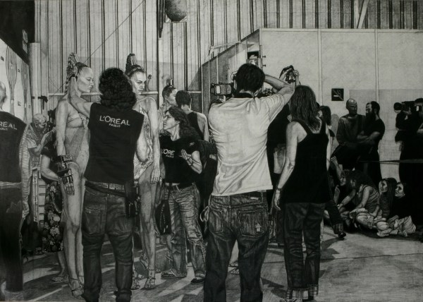 Backstage Pasarela Cibeles
