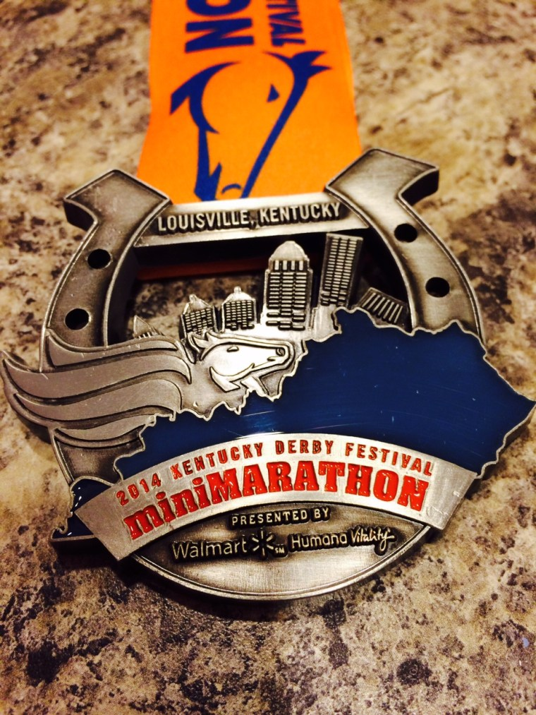 2014 KDF miniMarathon Finisher's Medal