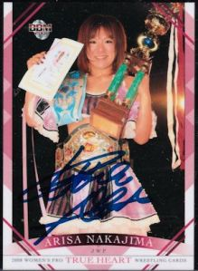 Arisa Nakajima Autograph Card