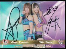 Mio and Kurihara Autograph Card