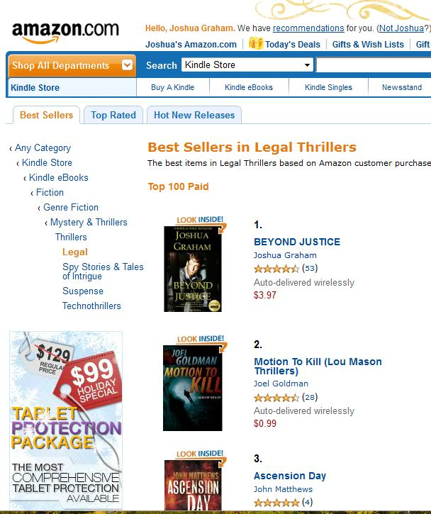 #1 Bestselling Legal Thriller Amazon-2