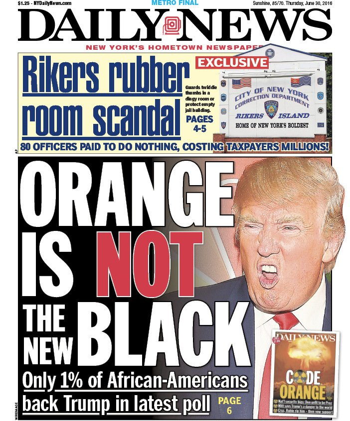 New York Daily News: Poll: Just 1% Of Blacks Back Trump