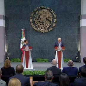 Mexican President Enrique Peña Nieto, left, with Donald J. Trump (Credit: NBC News)