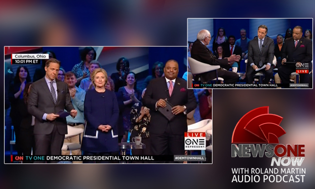 "TV One created a podcast of the March ""town hall"" meeting with the Democratic presidential candidates, co-hosted by Jake Tapper and Roland Martin."