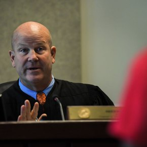 Circuit Court Judge Sherwood Bauer is well respected, but a review of his sentencing patterns shows he is much harder on black defendants. (Credit: Dan Wagner/Sarasota Herald-Tribune)