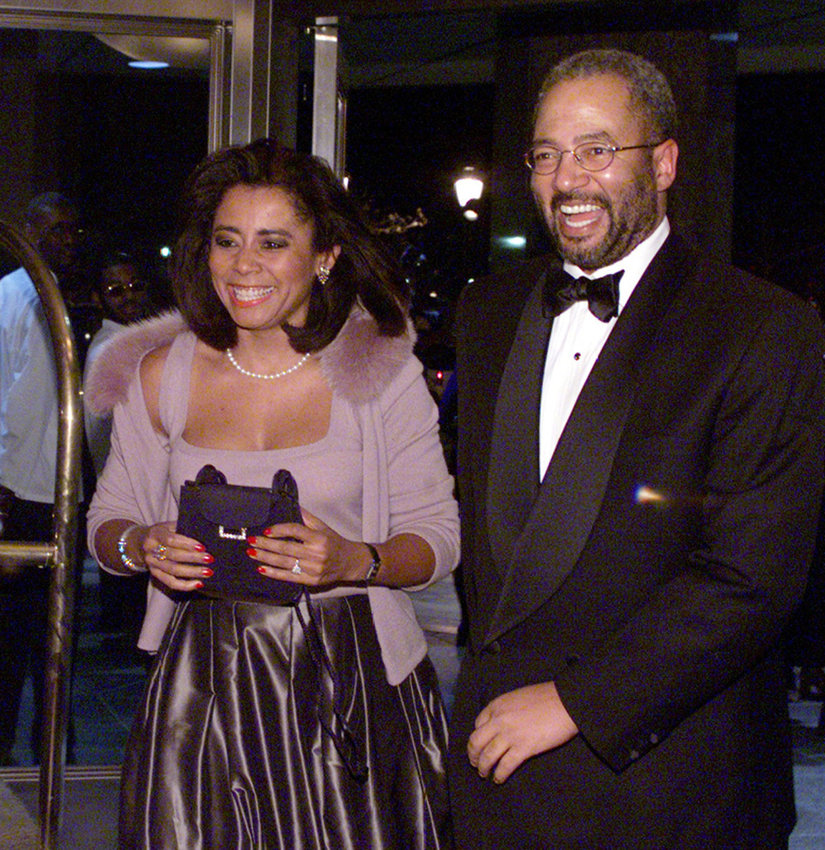 Renee Chenault, then-anchor for Philadelphia's WCAU-TV, with her husband, Rep. Chaka Fattah, D-Pa. (Credit: Steven M. Falk)