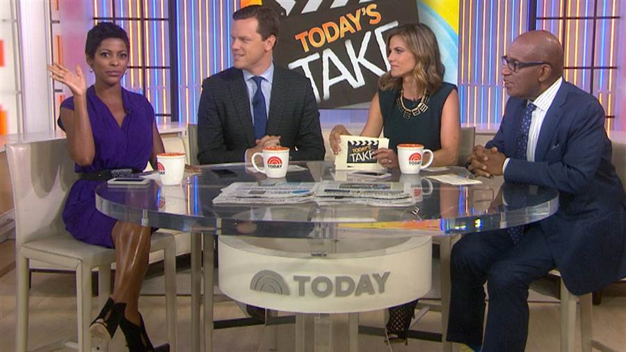 "Tamron Hall, left, and Al Roker, right, would leave the third hour of the ""Today"" show. (Credit: NBC)"