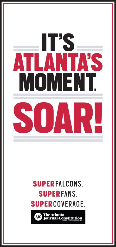 The Atlanta Journal-Constitution ran this ad before Sunday's game and on Monday.