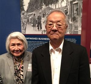 Art Shibayama and his friend, Blanca Katsura.