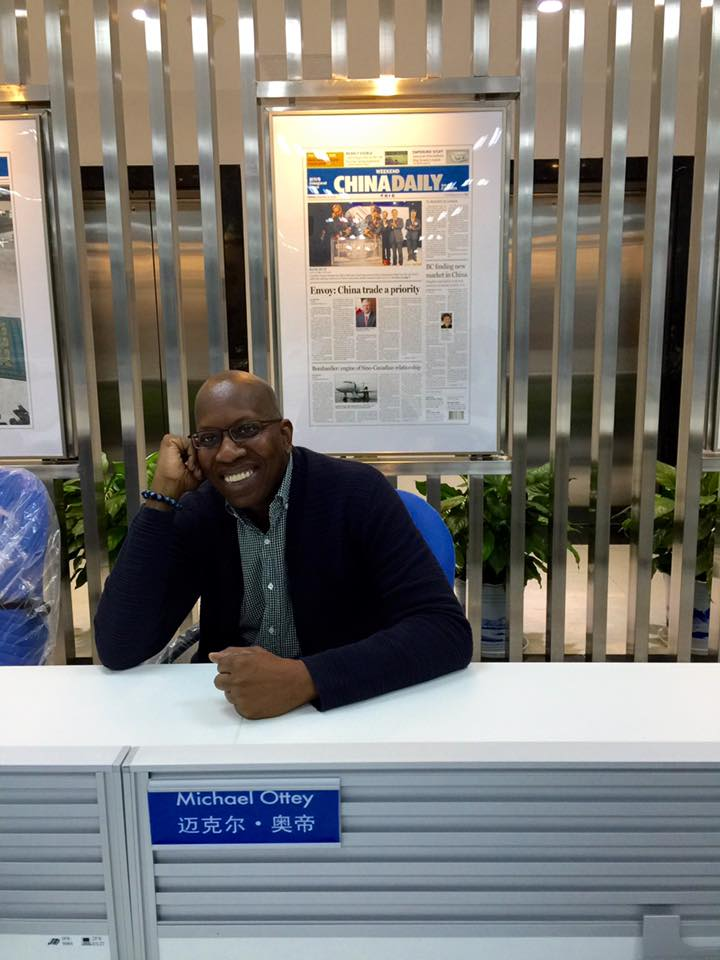 Michael Ottey at the China Daily. (Credit: Michael Ottey)