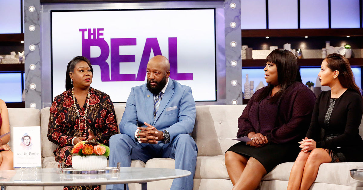 "Trayvon Martin's parents, Sybrina Fulton and Tracy Martin, give details on their new book, ""Rest in Power,"" celebrating their son's legacy. (Credit: The Real)"