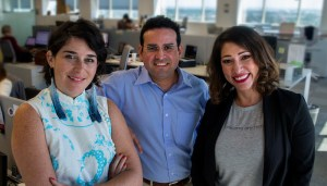 Telemundo 42's Maria Clark, left, Manuel Torres and Karla Ortiz. (Credit: G. Andrew Boyd, nola.com   the Times-Picayune)