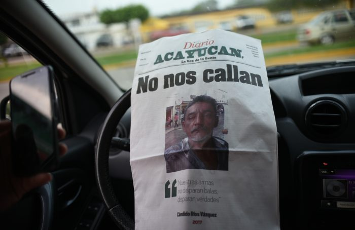 Reporter Candido Rios Vazquez was killed Tuesday in Mexico's Veracruz state. (Credit: formato7.com)