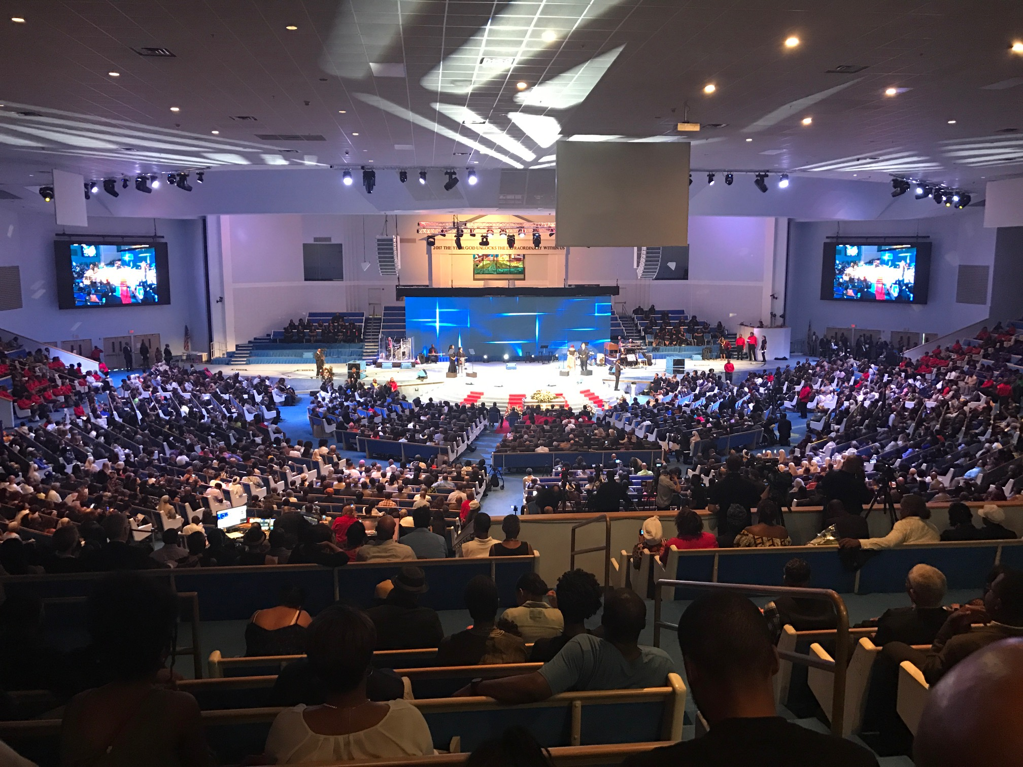 As many as 8,000 people attended services for Dick Gregory Saturday at City of Praise Family Ministries in Landover, Md. (Photos by Hamil R. Harris)
