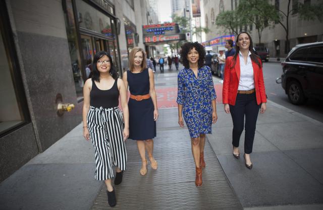 NBC News' digital editors, Traci Lee, Sandra Lilley, Amber Payne and Brooke Sopelsa (Credit: Matt Nighswander/NBC News)