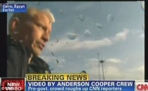 Anderson Cooper in Egypt in 2011. (Credit: CNN Screen Shot)