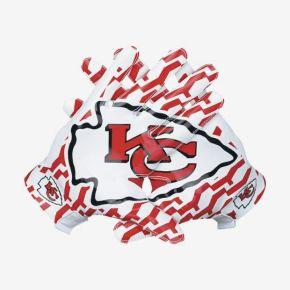The Kansas City Chiefs logo is shaped like an arrowhead.