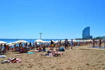The beach of Barcelona