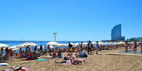 The beach of Barcelona
