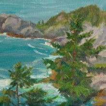 Gull Cove from Burnt Head 9x12""