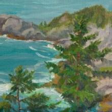 "Gull Cove from Burnt Head 9x12"""