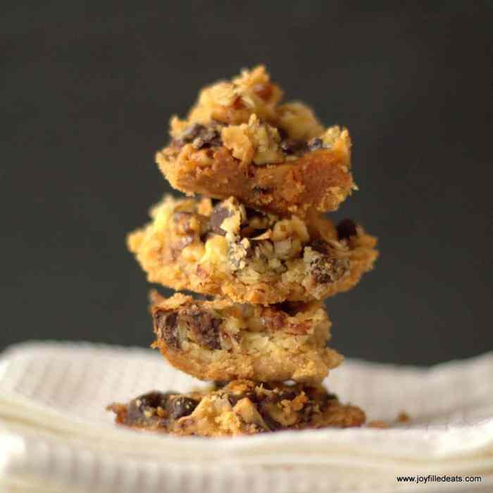 Low Carb, Gluten Free, Sugar Free, Grain Free, Magic Cookie Bars. THM S.