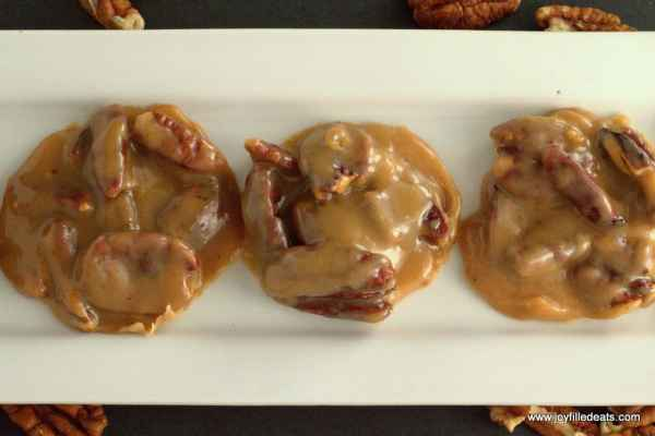 My Creamy Pecan Pralines will make you dream of New Orleans. They are low carb, sugar free, gluten free, grain free, & a THM S.