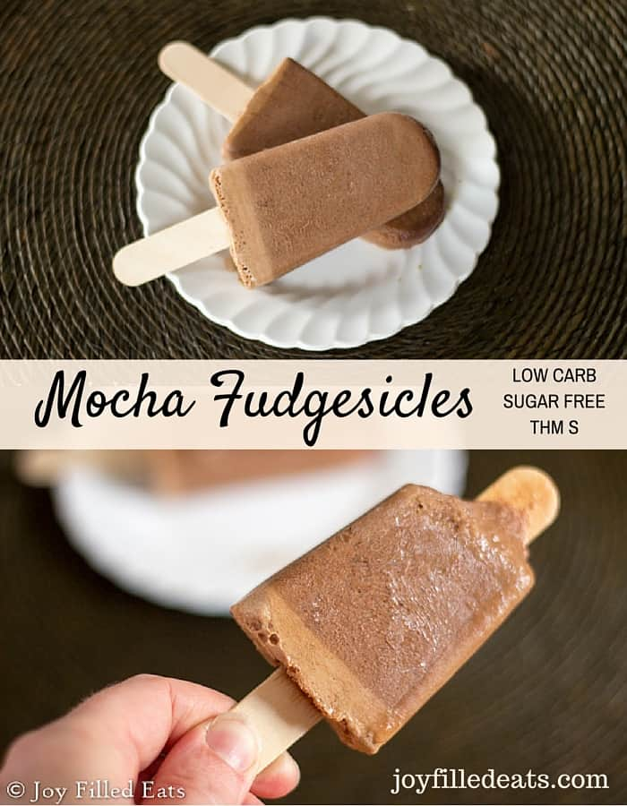 Mocha Fudgesicles - There is nothing like an ice pop on a hot day. These Mocha Fudgesicles take that to the next level. Low carb, grain/gluten/sugar free, THM S. 1.5g carbs.