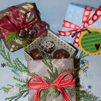 How to Make A Candy Box- Perfect Gift with Four Homemade Truffles or Peanut Butter Balls