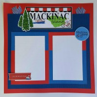 MACKINAC ISLAND FERRY SCRAPBOOK PAGES