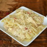 Crockpot Bacon & Ranch Chicken and Pasta