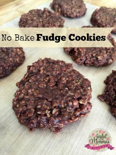 No Bake Fudge Cookies - Joyful Momma's Kitchen