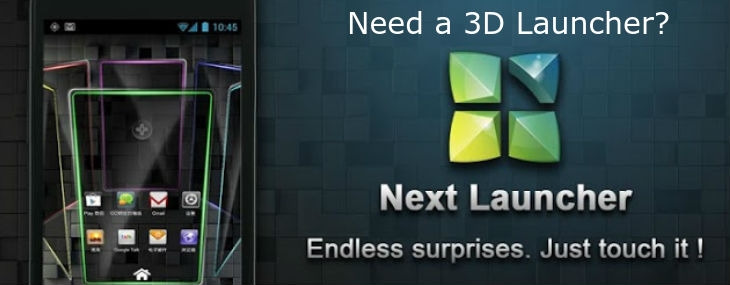 3D Launcher for Android