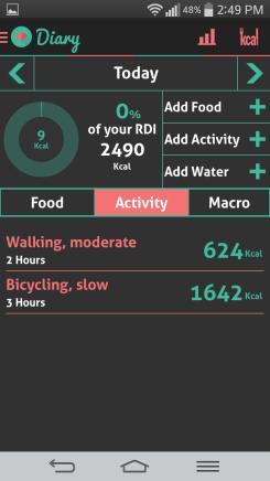 HI health tracker diary