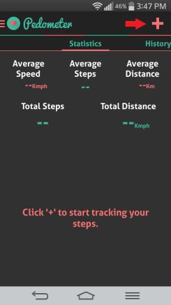 HI health tracker pedometer