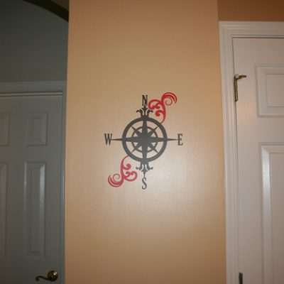 Vinyl Compass Wall Decor from Cricut Wall Decor & More