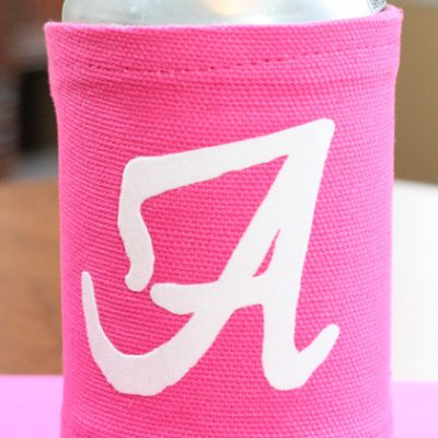 Football Friday – Flocked Iron On Vinyl Cup or Can Cozy & GIVE AWAY