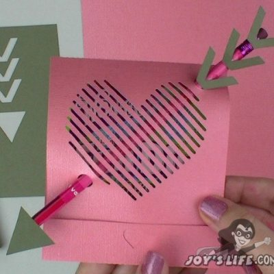 Silhouette File FREEBIE: Joy's Life 3D Valentine Pencil & Candy Holder and Video