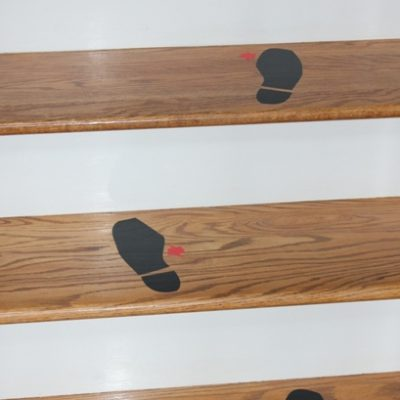 Bloody Vinyl Shoe Print Staircase – Cricut A Frightful Affair