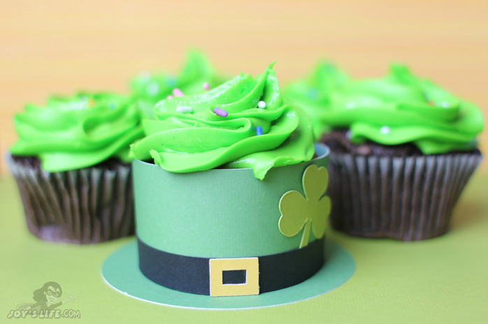 Leprechaun Hat Cupcake Wrapper at www.joyslife.com