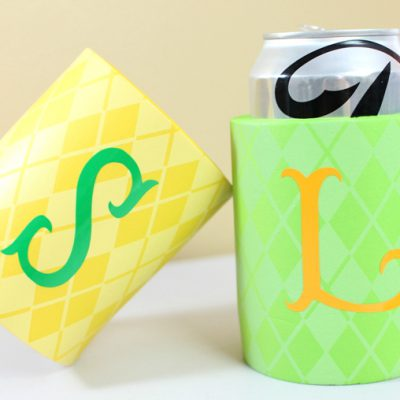 Create Personalized Can Koozies with Vinyl & the Cricut