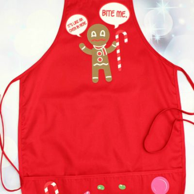 Gingerbread Man Vinyl Iron On Apron